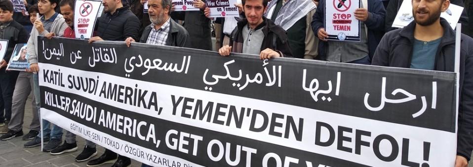 Katil Suudi Amerika, Yemen'den Defol!